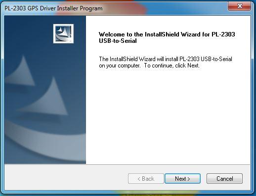 Installer PL2303