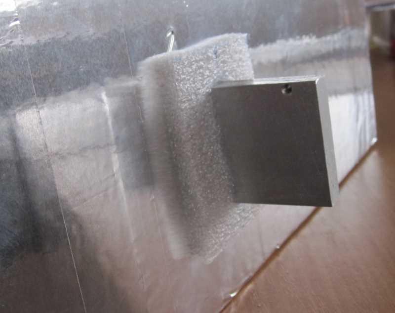 Установка внутреннего радиатора