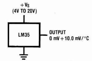 Типовая схема включения LM35