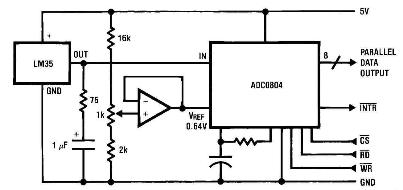 Простой цифровой термометр  с датчиком на lm35
