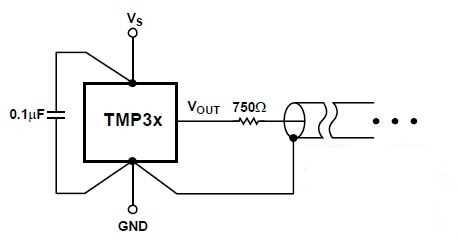 Схема работы термодатчика на емкостную нагрузку