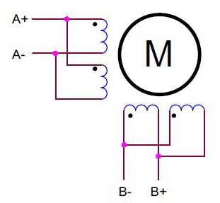 Двигатель 8 выводов