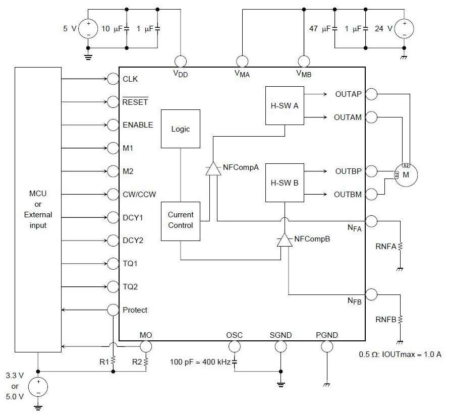 Схема монтажа компонентов