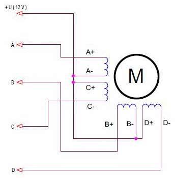 Схема подключения с 8 выводами