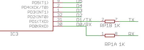 Схема подключения последовательного интерфейса