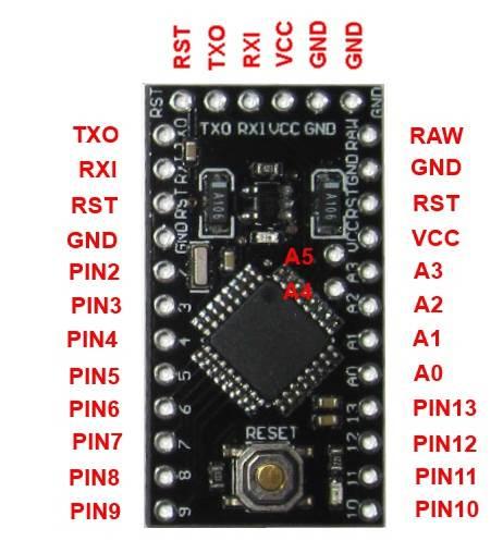 Распиновка Arduino Pro Mini