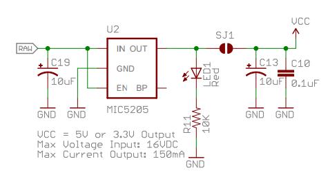 Схема питания Arduino Pro Mini