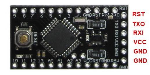 6 контактный разъем Arduino Pro Mini