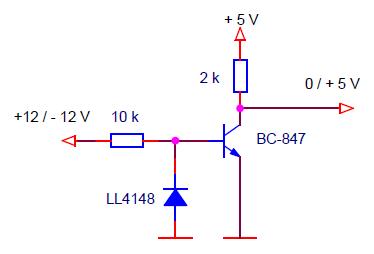 Схема приемника конвертера RS-232 в TTL
