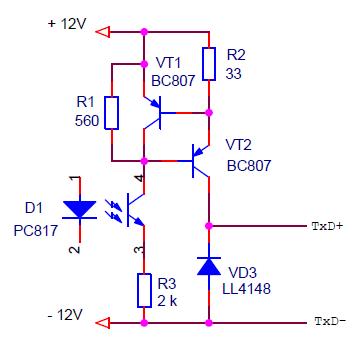 Схема передатчика ИРПС (токовая петля) со стабилизатором тока