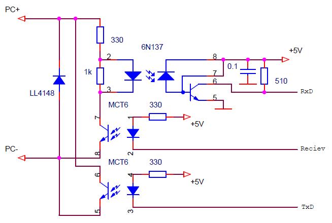 Схема организации двунаправленного обмена по токовой петле