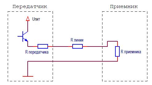 Схема простого передатчика токовой петли