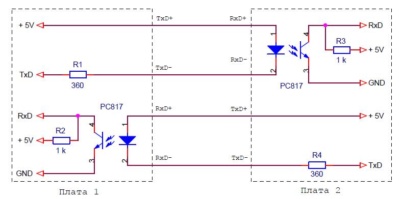 Схема связи плат Ардуино через ИРПС самым простым способом