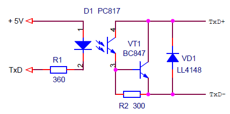 Схема увеличения выходного тока оптрона