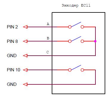 Подключение Encoder EC11 к Ардуино