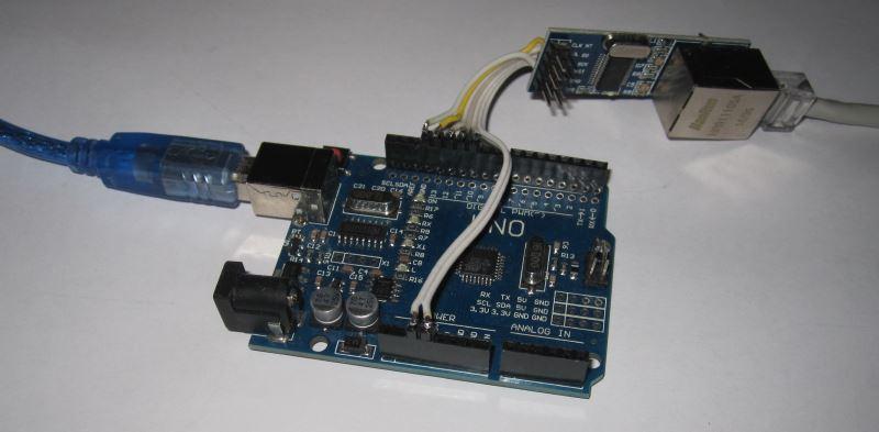 Модуль ENC28J60 с Ардуино