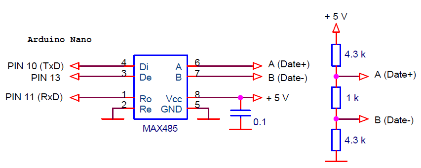 Схема конвертера USB - RS-485