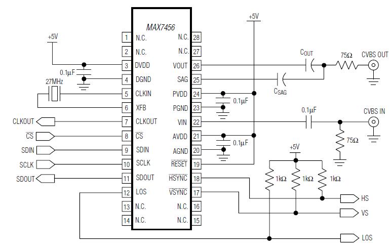 Схема подключения MAX7456
