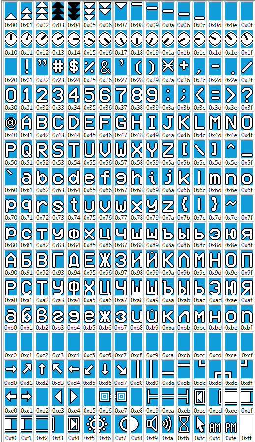 Шрифт с кириллицей