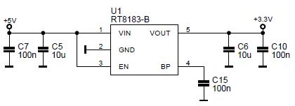 Схема питания STM32F103C8T6