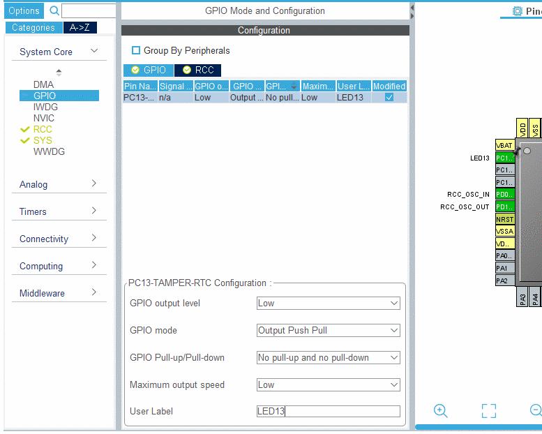 Работа с STM32CubeMX