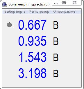 Программа вольтметра STM32