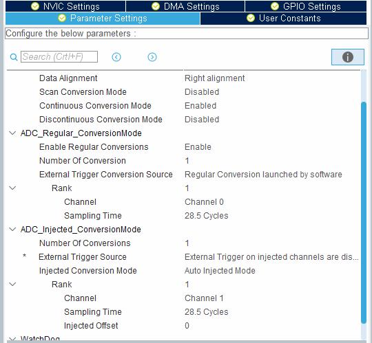 Настройка АЦП STM32