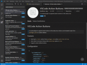 Расширение VsCode Action Buttons
