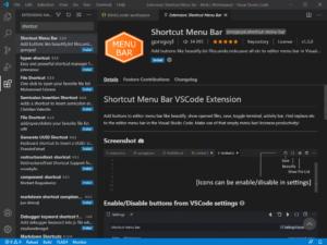 Расширение Shortcut menu bar