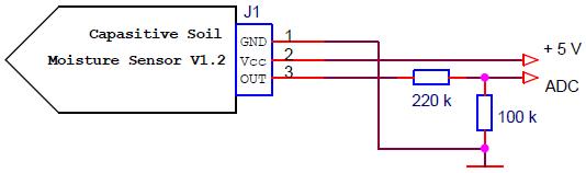 Подключение измерителя влажности к ESP-12E